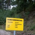 Hindernis im Offroadpark Südheide